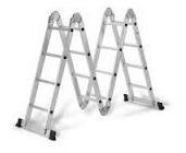 escalera multiproposito 16 pasos  en aluminio 4.8mt