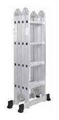 escalera multiproposito plegable 16 pasos en aluminio 4.8mt