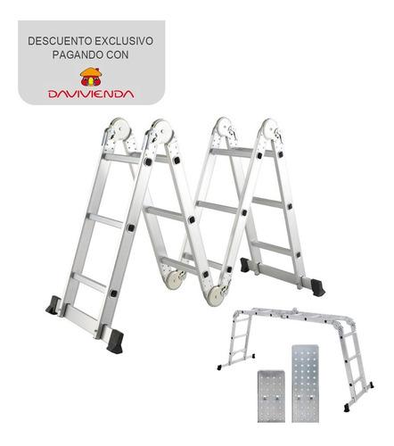 escalera multiuso en aluminio 4x3 ref sk131 kache tools