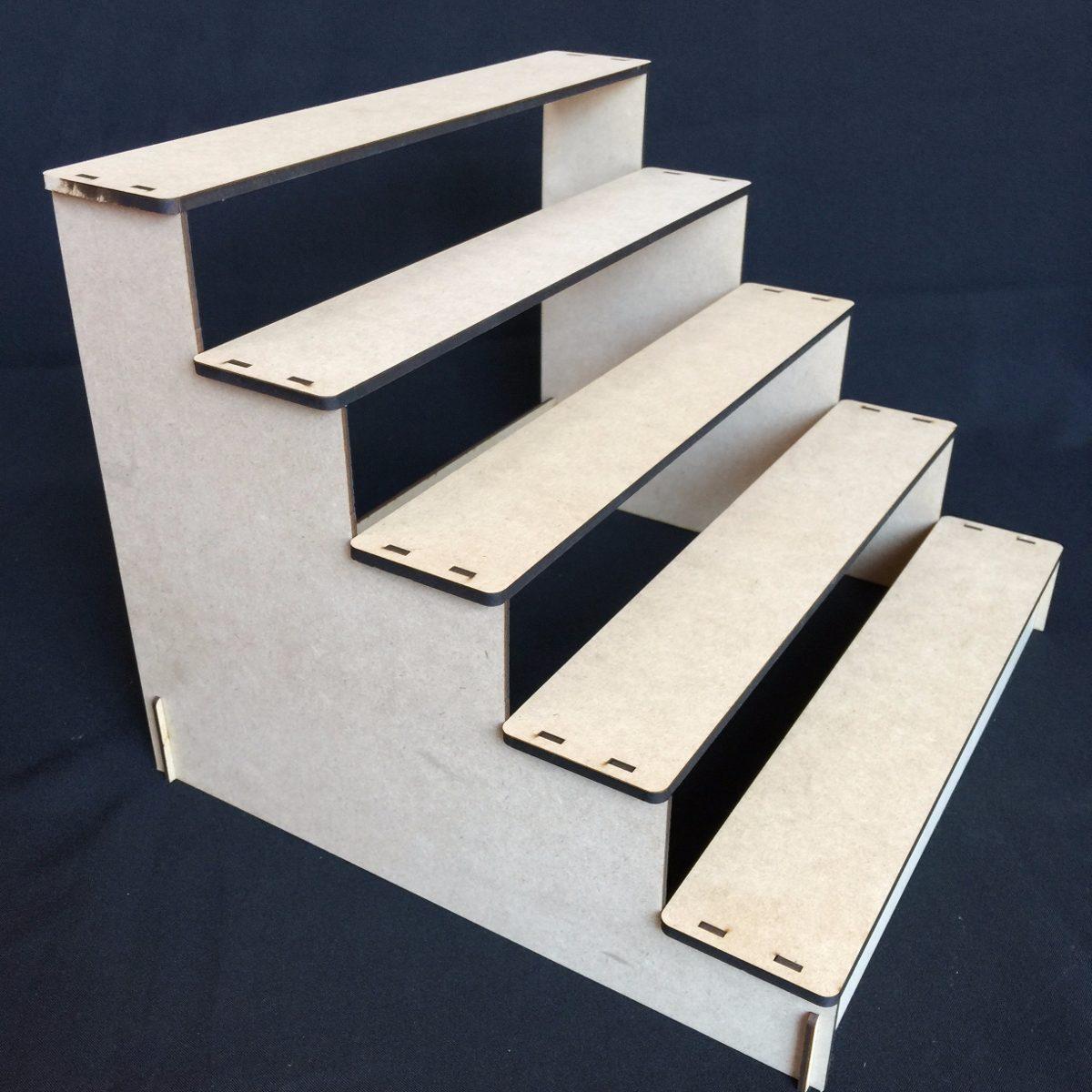 escalera para cupcakes muffins panques base mdf gmbs027 en mercado libre. Black Bedroom Furniture Sets. Home Design Ideas