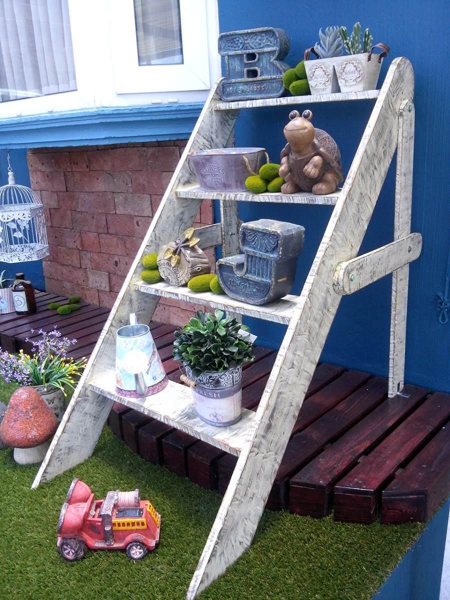escalera para jardin estilo vintage