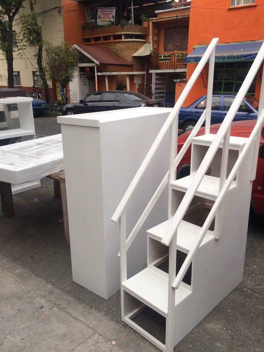 Escalera Para Litera Con Barandales Y Cajones Lagunilla 350000