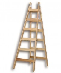 Escalera pintor en madera 10 escalones reforzada for Escaleras pintor precios