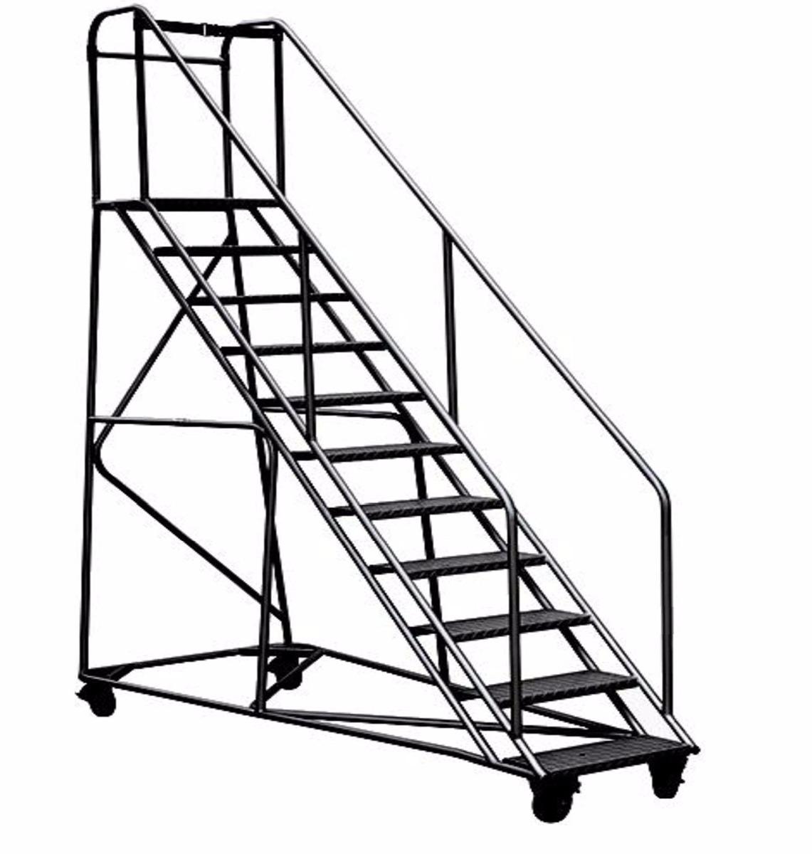 Escalera plataforma tipo avi n en acero 5 pasos mts for Escalera 5 pasos afuera