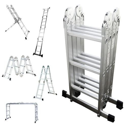 Escalera plegable aluminio multifuncional for Escalera aluminio plegable articulada precio
