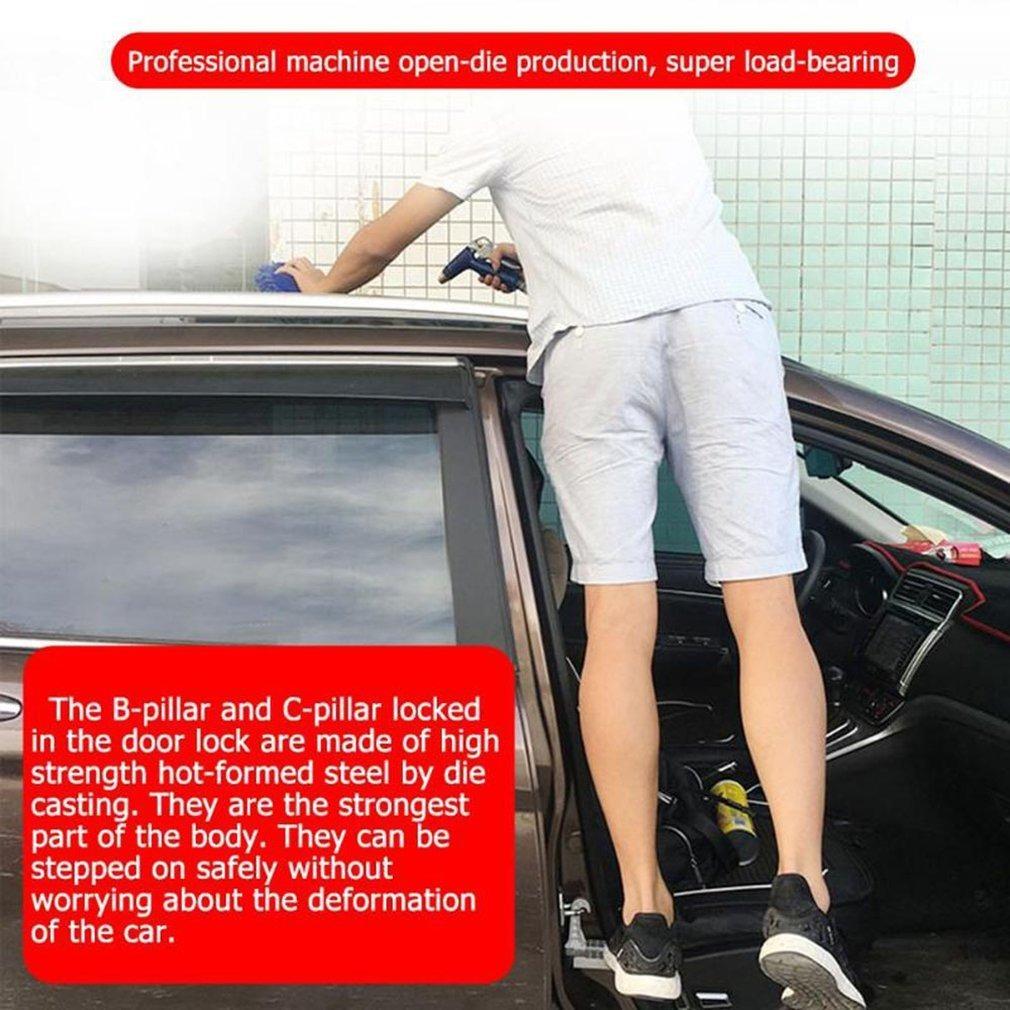Heartbeat Escalera Plegable para Puerta de Coche con Gancho en Forma de U Martillo de Seguridad para Jeep Car SUV f/ácil Acceso a la Parte Superior del Techo del Coche