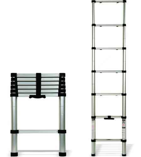 escalera portátil telescópica 2 metros aluminio 6 peldaños