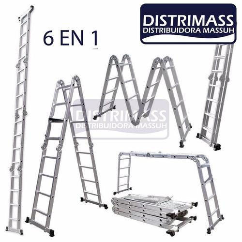 escalera profesional multiuso, altura maxima 3,7 metros