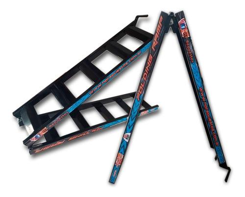 escalera rampa hierro plegable motos atv utv  solomototeam
