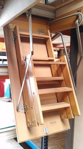 escalera rebatible de madera para altillos y entrepisos