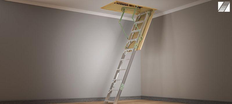 Escalera Rebatible Para Altillo De Aluminio Okm - $ 13.990,00 en ...
