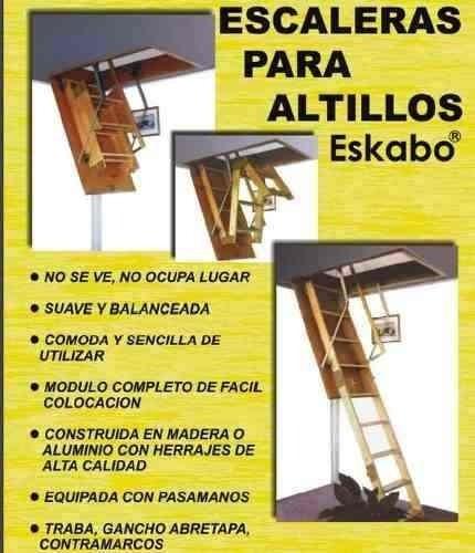 escalera rebatible para altillo de madera okm