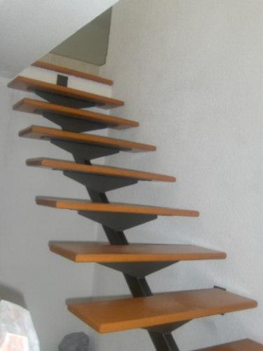 Escalera recta minimalista 22 en mercado libre - Como hacer una escalera de madera recta ...