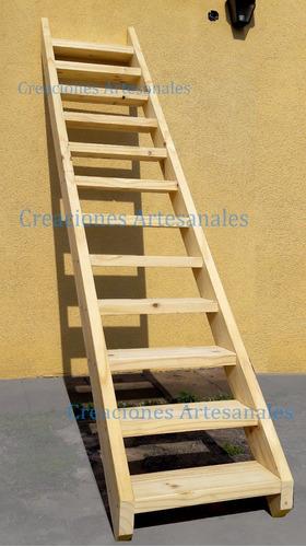 escalera robusta madera altillos fija no rebatible entrepiso