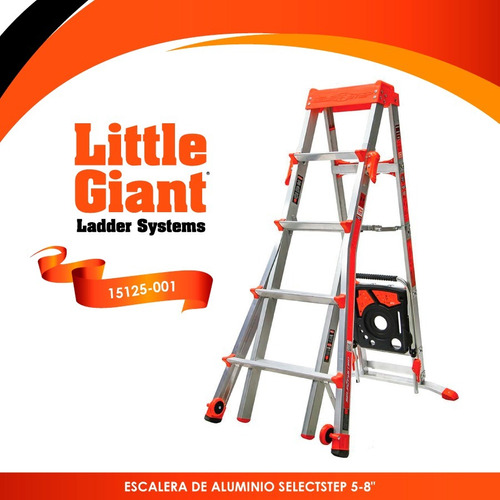 escalera select step 5'-8' little giant 15125-001 + envio