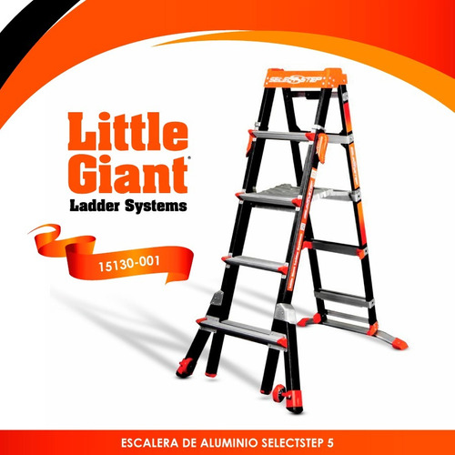 escalera select step fiberglass 5'-8' little giant 15130-001