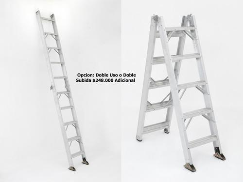 escalera sencilla aluminio 10 pasos / 3.0 metros 136 kg