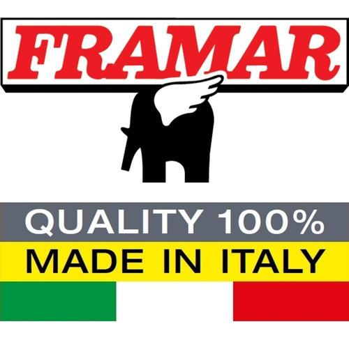 escalera taburete plegable acero banqueta 2 escalones marca framar hecha en italia - hay stock