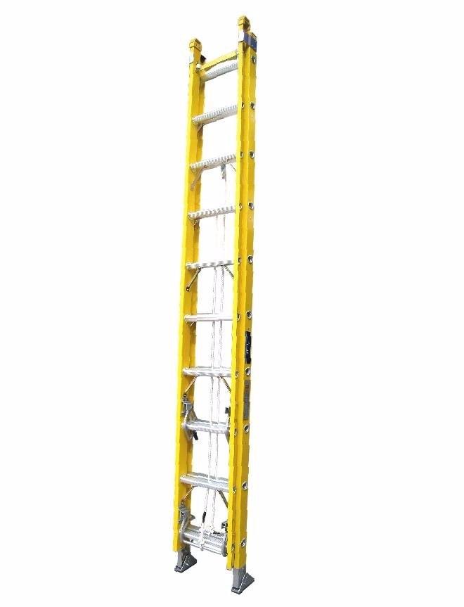 Escalera telesc pica 28 pasos de fibra de vidrio for Escaleras fibra