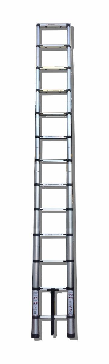 Escalera telescopica 4 4 metros retractil incluye mochila for Escaleras 4 metros