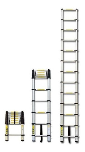 escalera telescópica aluminio retráctil 3.2 mt.