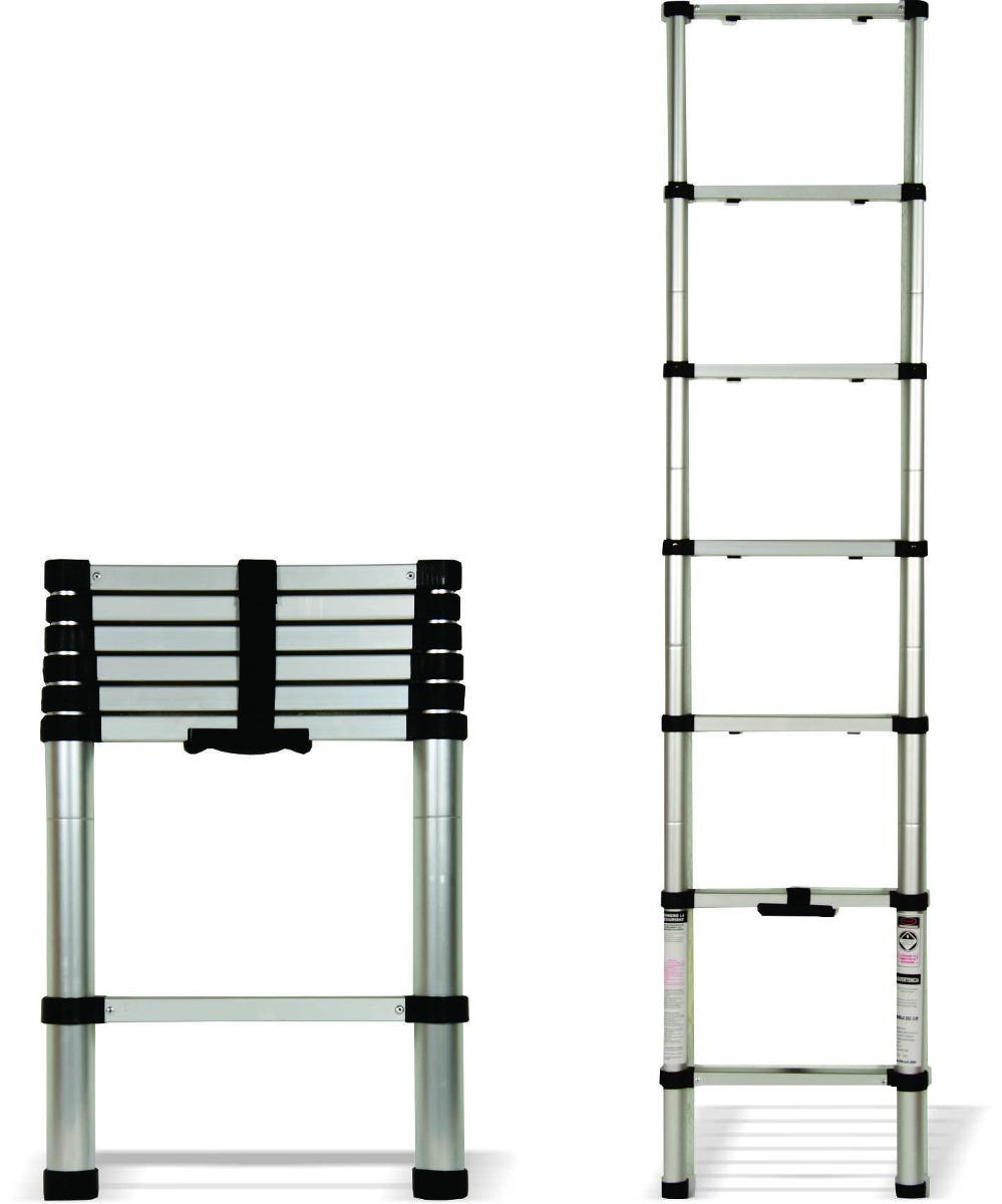 escalera telesc pica de aluminio 2 metros 1 en