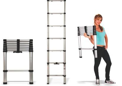 Escalera telesc pica de aluminio 2 metros 1 en for Escalera de aluminio extensible 9 metros