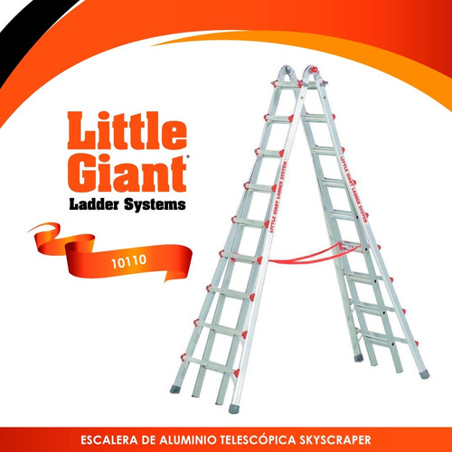 escalera telescópica skyscraper 17 little giant 10110 +envio