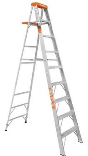 escalera tijera con bandeja truper original 8 pasos