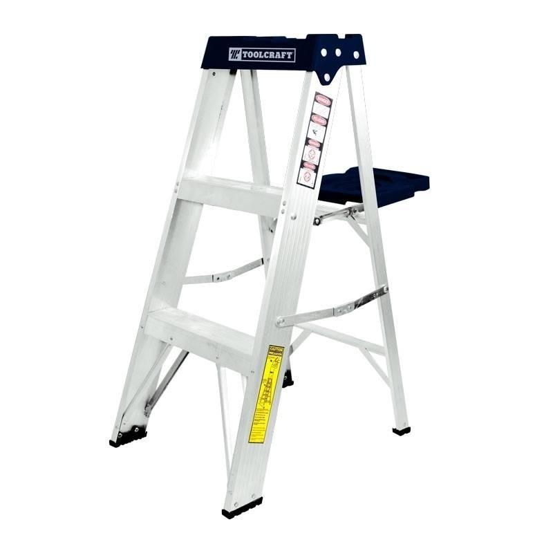 escalera tijera de aluminio 2 escalones tc3205 toolcraft