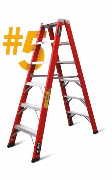 Escalera tijera doble asc 3 pasos fibra de vidrio esc 5 3 - Escalera fibra de vidrio ...