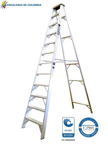 escalera tijera tipo ia aluminio 11 peldaños / 3.60 metros