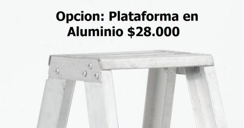 escalera tijera tipo ii aluminio 3 peldaños / 0.90 metros