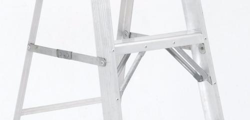 escalera tijera tipo ii aluminio 3 peldaños / 1.20 metros
