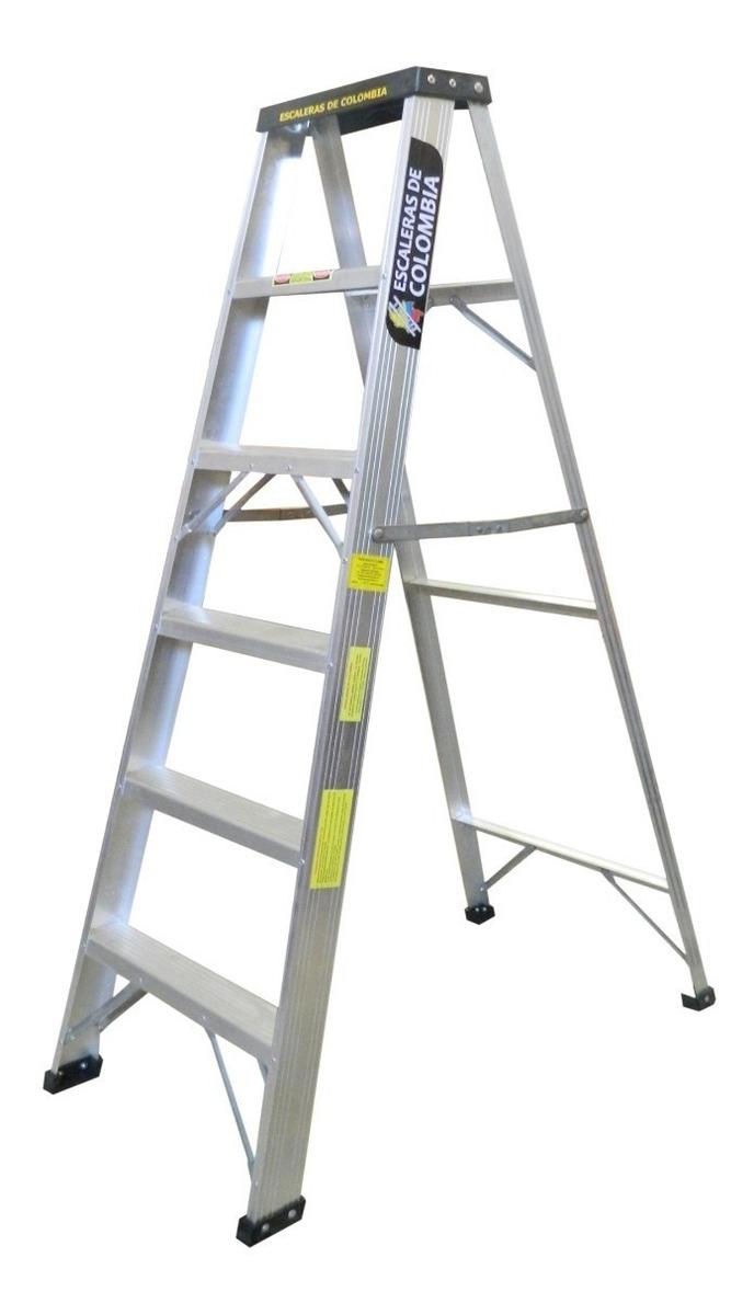 Escalera de Tijera de Aluminio Pelda/ño Ancho 12 cm 7 Pelda/ños con Ancho 12 cm