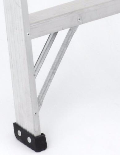 escalera tijera tipo ii aluminio 7 peldaños / 2.40 metros