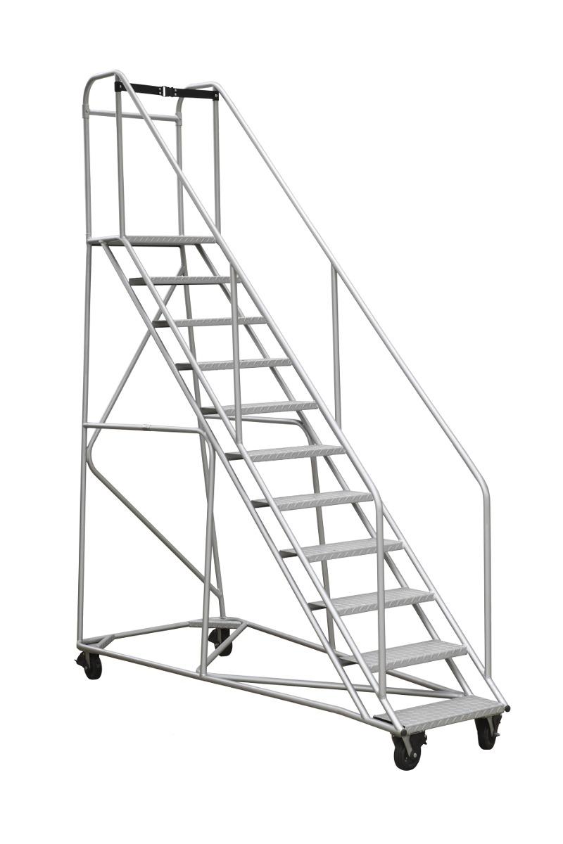 Escalera tipo avi n en aluminio 15 pelda os 3 0 mt 8 for Escaleras con plataforma precios