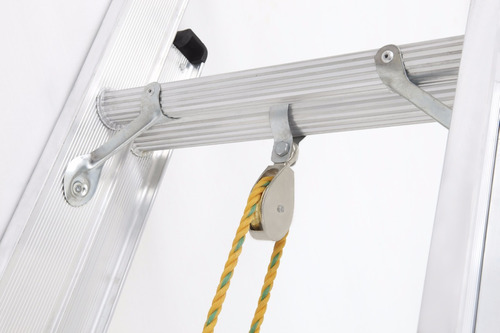 escalera tipo ia extension aluminio 24 peldaños / 7.4 mts