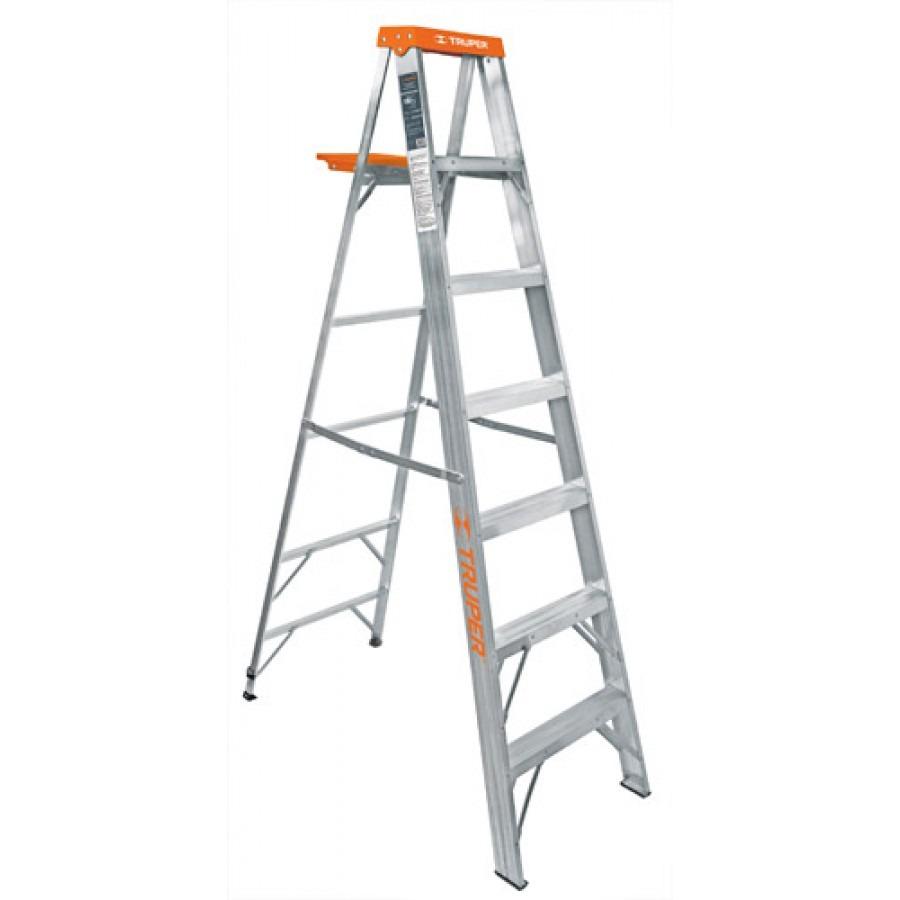 Escalera tipo tijera t2 con 6 escalones con bandeja for Escalera de aluminio extensible 9 metros