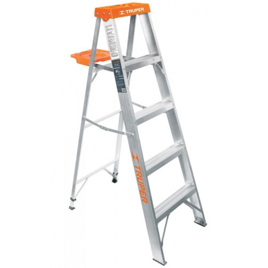 Escalera tipo tijera t3 con 4 escalones con bandeja for Escalera de 5 metros