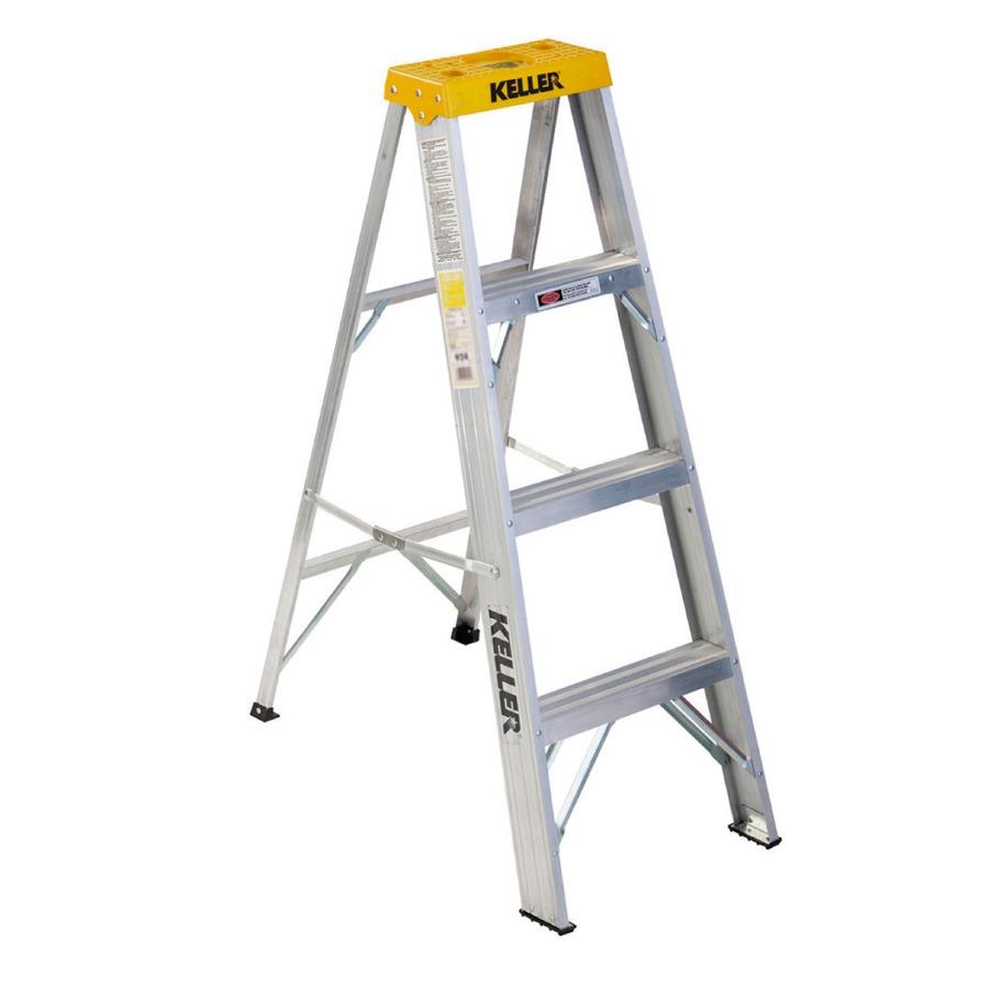 Escalera werner tipo tijera de aluminio de 3 pelda os for Escaleras 10 peldanos de tijera