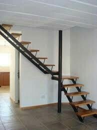 Escaleras a medida hierro y madera en mercado libre Escalera hierro y madera