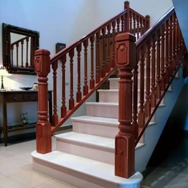 Escaleras barandales pasamanos de madera torno balastros en mercado libre - Barandas de madera para escaleras ...