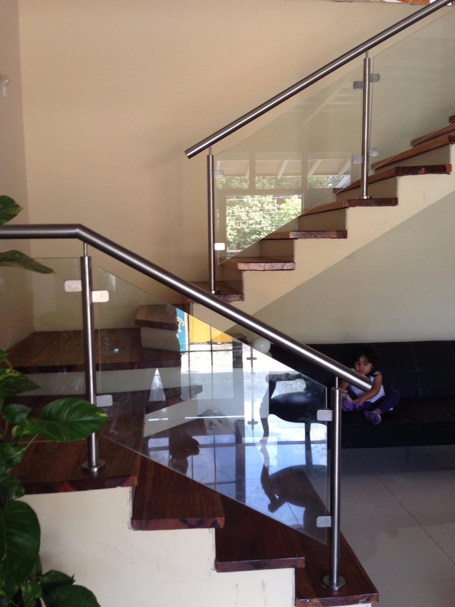Escaleras barandas pasamanos acero inoxidable cristal bs - Escaleras telescopicas precios ...