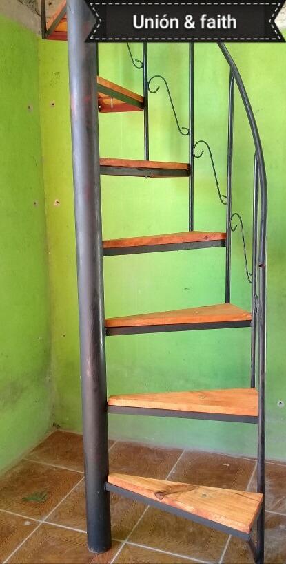 Escaleras caracol 8500 hierro y madera hasta 3mt 850 - Escaleras de caracol de madera ...