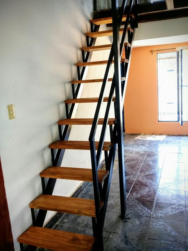 Escaleras caracol 8500 hierro y madera hasta 3mt 850 - Escalera hierro y madera ...