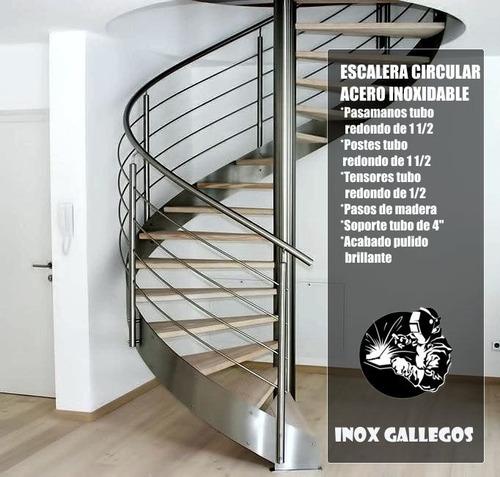 escaleras de acero inoxidable , pasamanos , barandas