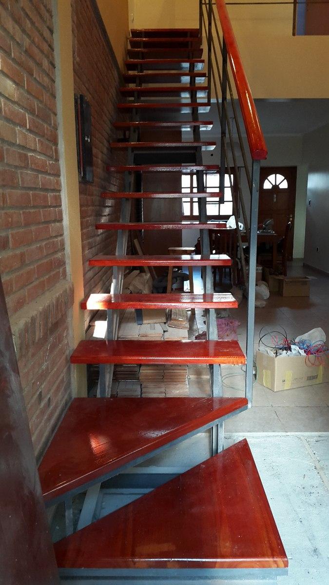 Escaleras de hierro y madera para interiores casas with - Escaleras de madera para interiores ...