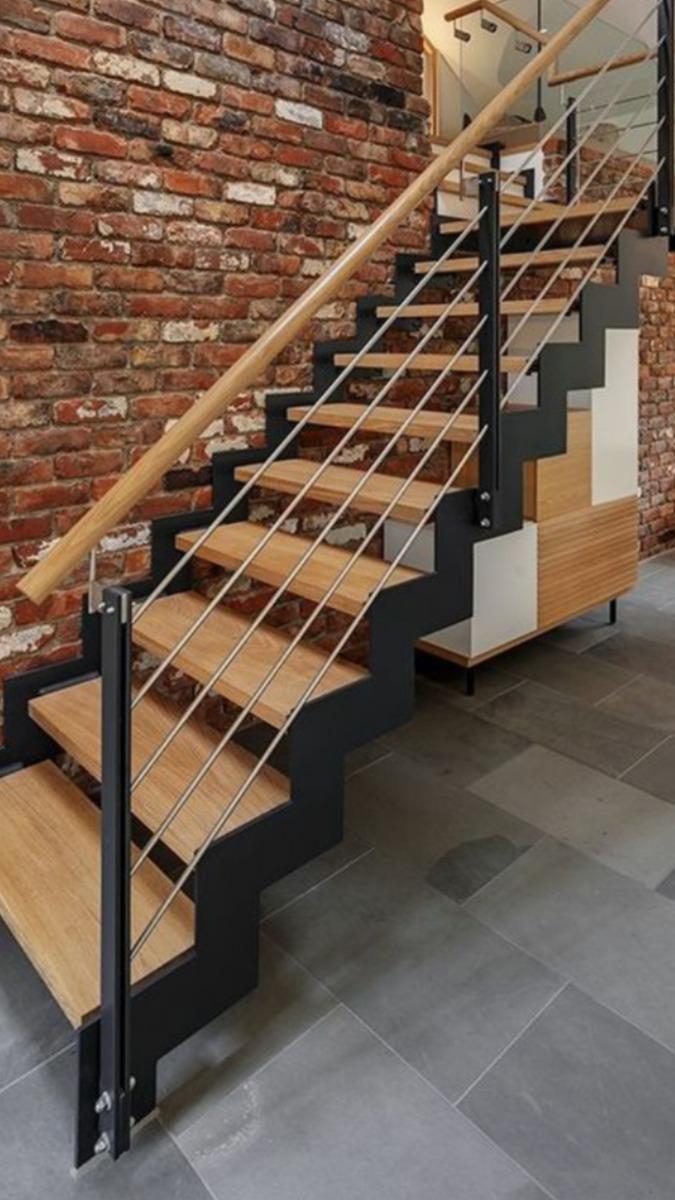 Escaleras de hierro y madera para interiores cheap escaleras con estructuras en acero - Escaleras de hierro y madera para interiores ...