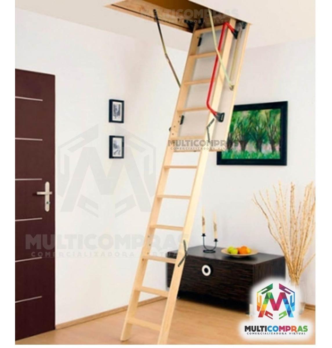 Escaleras elevada techo penthouse altillo tico plegable - Escalera plegable altillo ...